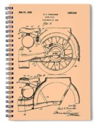 Motorcycle Patent 1925 Spiral Notebook