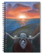 Motorcycle Sunset Spiral Notebook