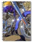 Motorcycle Without Blue Frame Spiral Notebook