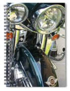 Motorcyle Classic Headlight Spiral Notebook