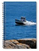 Motoring On Casco Bay Spiral Notebook