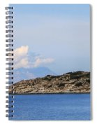 Mount Athos In Clouds View From Sithonia Greece Spiral Notebook