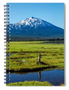 Mount Bachelor And Meadow Spiral Notebook
