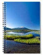 Mount Bachelor Vertical Reflection Spiral Notebook