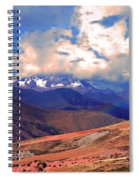 Mount Chicon Rainbow In Andes Spiral Notebook