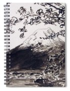 Mount Fuji Spring Blossoms Spiral Notebook