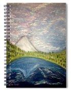 Mount Hood Night Sky Spiral Notebook