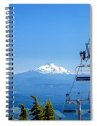 Mount Jefferson And Chairlifts Spiral Notebook