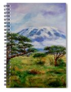 Mount Kilimanjaro Tanzania Spiral Notebook