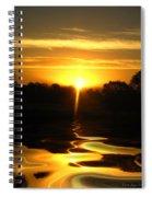 Mount Lassen Sunrise Gold Spiral Notebook