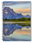 Mount Moran At Sunrise Spiral Notebook
