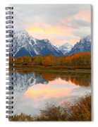 Mount Moran Reflection Sunset Spiral Notebook