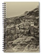 Mount Of The Temptation Monestary Jericho Israel Antiqued Spiral Notebook