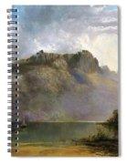 Mount Olympus. Lake St Clair. Tasmania The Source Of The Derwent Spiral Notebook