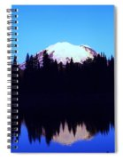 Mount Rainer At Tipsoe Lake In The Sunrise Spiral Notebook