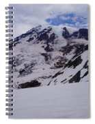 Mount Rainer In The Clouds Spiral Notebook
