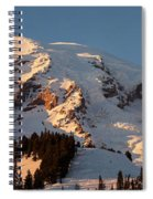 Mount Rainier Alpenglow Spiral Notebook