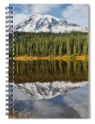 Mount Rainier And Reflection Lakes In The Fall Spiral Notebook