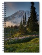 Mount Rainier Evening Fog Spiral Notebook