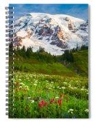 Mount Rainier Flower Meadow Spiral Notebook