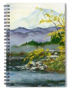 Mount Rainier From Carbon River Spiral Notebook