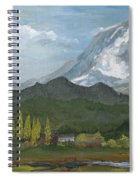 Mount Rainier From Lake Rap John  Spiral Notebook