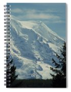 Mount Rainier From Patterson Road Spiral Notebook