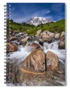 Mount Rainier Glacial Flow Spiral Notebook