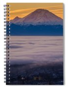 Mount Rainier Sunrise Mood Spiral Notebook