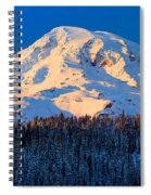 Mount Rainier Winter Evening Spiral Notebook