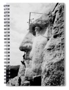 Mount Rushmore Construction Photo Spiral Notebook