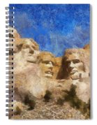 Mount Rushmore Monument Photo Art Spiral Notebook