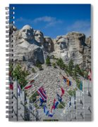 Mount Rushmore National Memorial Spiral Notebook