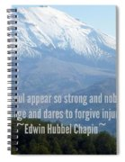 Mount Saint Helen's Text Spiral Notebook