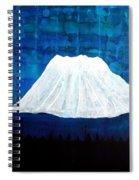 Mount Shasta Original Painting Spiral Notebook
