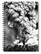 Mount St Helens Eruption Spiral Notebook