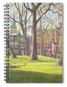 Mount Street Gardens, London Oil On Canvas Spiral Notebook
