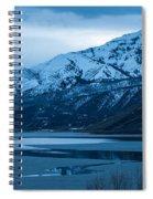 Mount Timpanogos Winter Evening Spiral Notebook