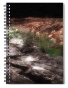 Mount Trashmore - Series I - Painted Photograph Spiral Notebook