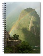 Mountain And Train Below Along Urubamba Spiral Notebook