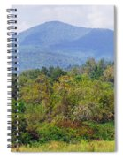 Mountain And Valley Near Brevard Spiral Notebook
