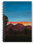 Mountain At Night Spiral Notebook