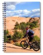Mountain Biking Moab Slickrock Trail - Utah Spiral Notebook