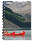 Mountain Canoes Spiral Notebook