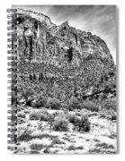 Mountain In Winter - Bw Spiral Notebook