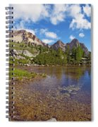 Mountain Lake In The Dolomites Spiral Notebook