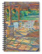 Mountain Lake Shadows Spiral Notebook