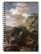 Mountain Landscape With Figures Spiral Notebook