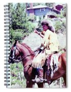 Mountain Man On A Horse Spiral Notebook