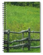 Mountain Meadow New York Hwy 30 Spiral Notebook